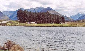 View over Lake Georgina looking north.
