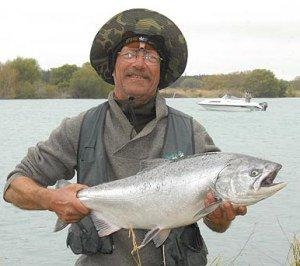 John Cullinane salmon from the Waimakariri River.