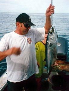Albacore trolling lures. Tuna taken on lure off kaikoura.