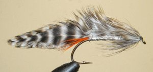 Silver Dorothy Trout Lure - Hook Mustad 3666.