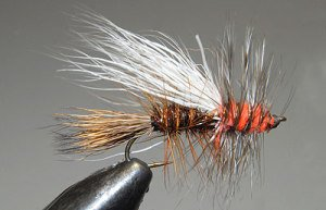 Randall Kauffman Stimulator fly (colour varation) tied by John Hey