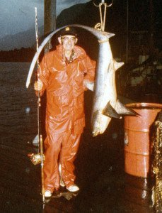 Thresher shark taken off Fiordland. Photo Dick Marquand.
