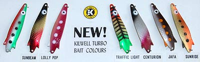 Some of the newer Kilwell Turbo colours available.