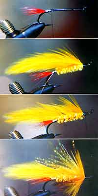 Tying the Yellow Lady trout lure.