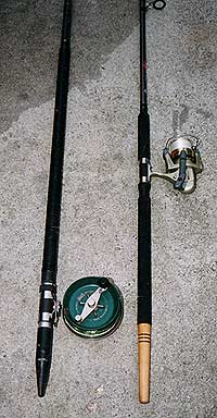 You can see the different rod set-ups here. The Alvey needs the winch fitting close to the rod butt for good balance.