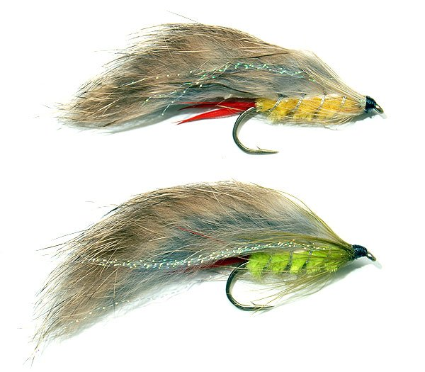 Yellow Rabbit lure top, and a lime green version.