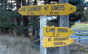 Hakatere Corner sits at the end of Ashburton Gorge Road 24 kms from Mt Somers. From here it splits in two with one road leading to Lake Clearwater and Erewhon Station - where Lord of the Rings was filmed, and the other to Lake Heron and Mt Arrowsmith Station.