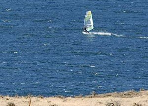 Windsurfing and kite-boarding are very popular on Lake Clearwater.
