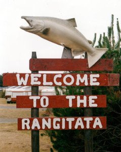 Welcome to Rangitata sign.