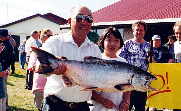 Another big salmon caught in Otago Harbour.