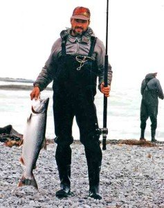 Another good sized salmon from the surf at the mouth of the