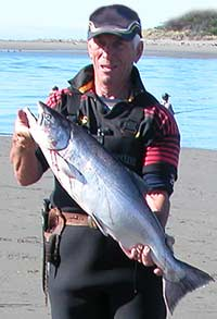 A typical salmon from the mouth of the Waimakariri River this 2006/2007 season.
