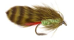 Green Orbit Trout Lure - Tied on a small size 8 hook it makes a good day pattern.