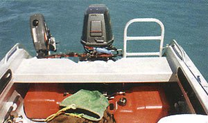 There is plenty of room in the cockpit for four anglers to fish comfortably.