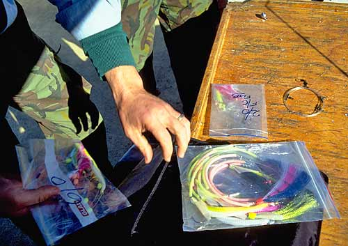 Keep pre-tied groper rigs in zip-lock plastic bags.