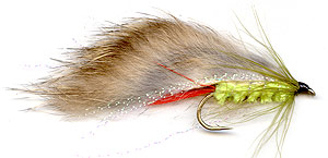 Green Rabbit trout lure.
