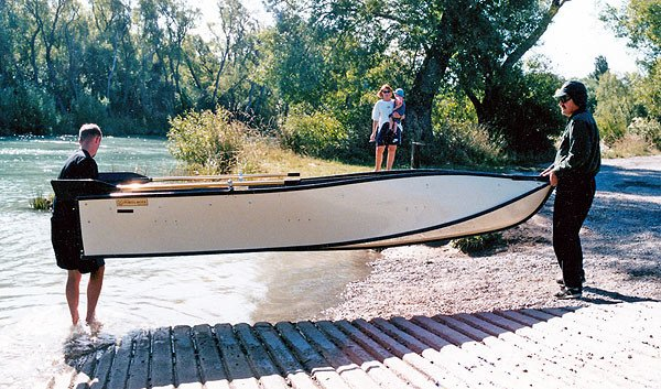 Two anglers can carry the 12' 6 Porta Bote Genesis III