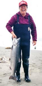 The salmon is the premier sports fish in the South Island.
