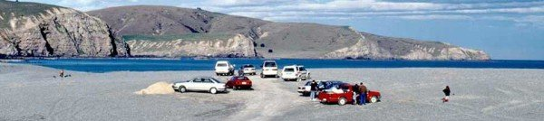 The car park at Birdlings Flat where Kaitorete Spit meets Banks Peninsula. Don't drive on the stones unless you are riding a quad bike or you'll get hopelessly stuck immediately! I have caught countless fish here over the years. I once caught two big blue moki down by the rocks one evening when the see was eerily flat calm. I have never seen the see that calm before or since. There wasn't a breath of wind.