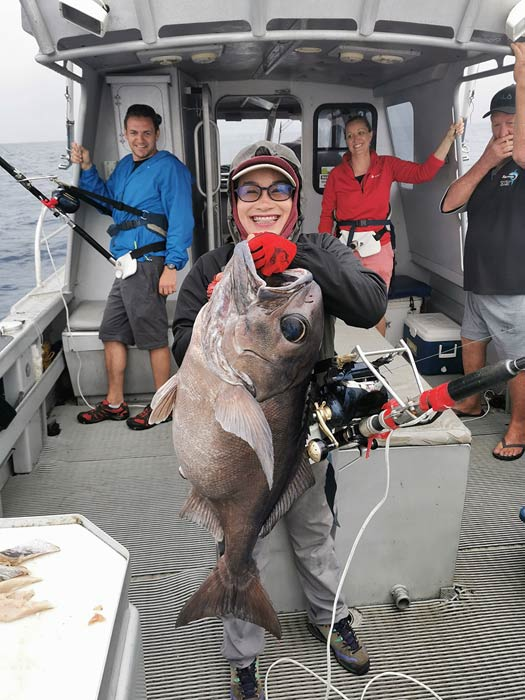 This big bluenose Warehou – Hyperoglyphe antarctic - was a magnificent catch for Nantyia. ( 3 / 17 )