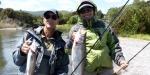 Nantiya and partner Roland caught these rainbow trout at Lake Rotorua.