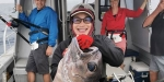 This big bluenose Warehou – Hyperoglyphe antarctic - was a magnificent catch for Nantyia.