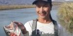16-pound rainbow jack trout.
