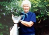 Eileen with Clive's 32lb salmon January 1996.