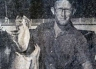 J. Wing with a 40lb salmon caught from the Rakaia River back in 1970.