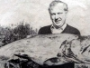 Geoff Elliott with his his 41 lb salmon: April 1984.