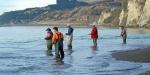 Anglers fishing the upstream end of the Hurunui River gut.