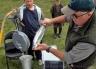 Weighing a fish at Ryton Bay.