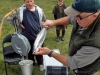 Weighing a fish at Ryton Bay.