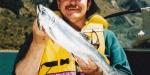 Allan Burgess with a salmon from Lake Coleridge.