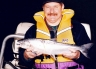 Allan Burgess with a larger landlocked salmon.