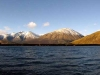 View across lake Coleridge towards Mt Cotton.