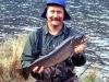 Allan Burgess with a brown trout weighing about 3kg from Lake Selfe.