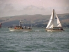 Otago Harbour - Yacht under tow.