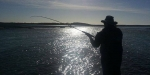Charles in to another Rakaia River salmon.