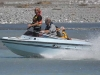 Jet boaters on the lower Rakaia River during the Competition 2009.