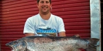 Bryce Helms 41lb brown trout. The monster brown trout, was caught in one of the Twizel Canals by Bryce Helms in the South Island's MacKenzie Country. It tipped the scales at 19.05kg. That was just 50 grams short of the world record.