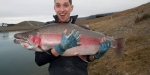 Richard Bell and huge rainbow jack in vivid spawning livery.