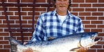 Ed with a 21lb salmon caught in March 1996. It was his 5th salmon that season.