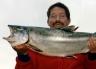 Who is this good looking salmon angler? Fish caught in the Waimakariri River. Waimakariri River Trout and Salmon Fishing - fishingmag.co.nz
