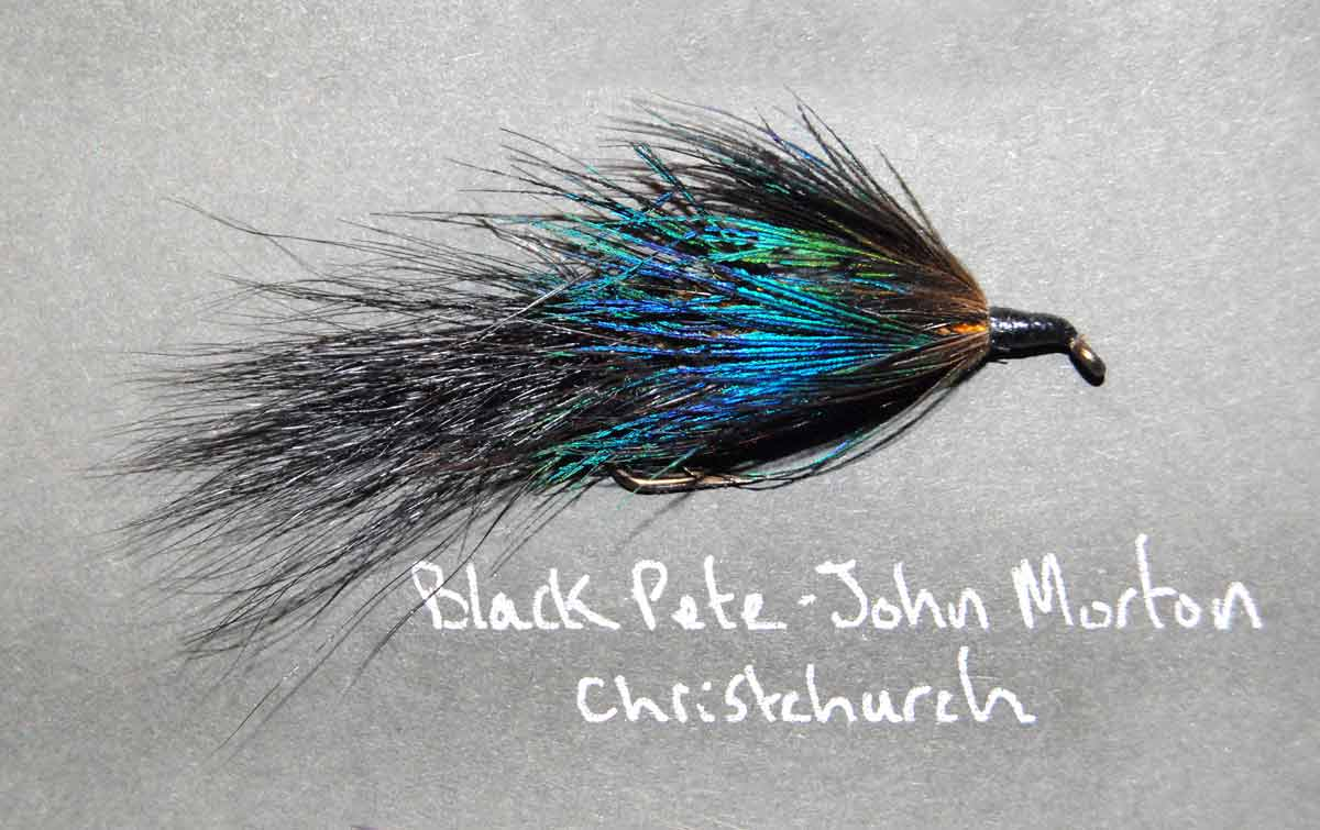 John Morton's Black Pete trout fly.