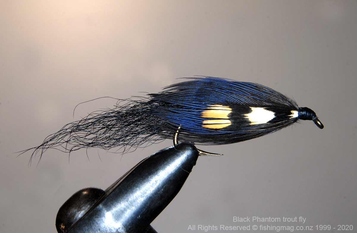 Black Phantom Trout Fly