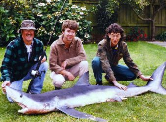 Blue shark caught off the Canterbury Coast.