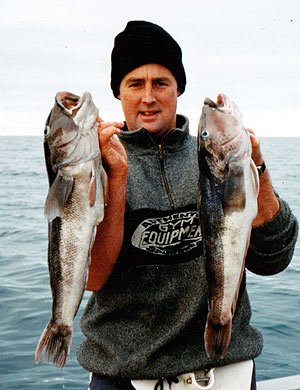 Two fine specimens caught in Stephens Passage, near D'Urville Island.
