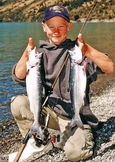 Landlocked salmon from Lake Coleridge.