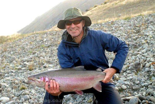Rainbow trout Twizel Canals.